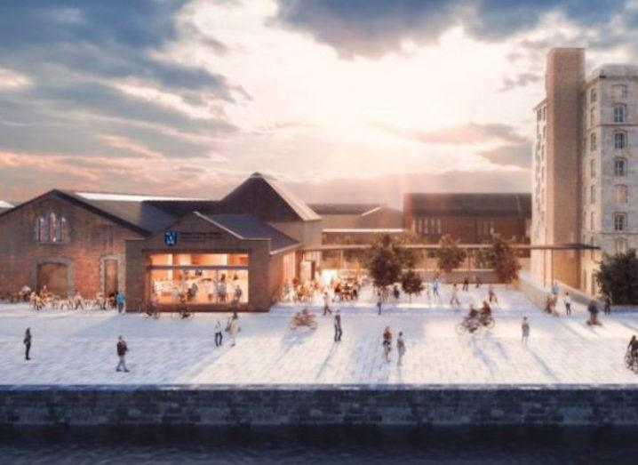 A rendering of the plans for the Trinity Innovation Hub in Dublin's Silicon Docks.