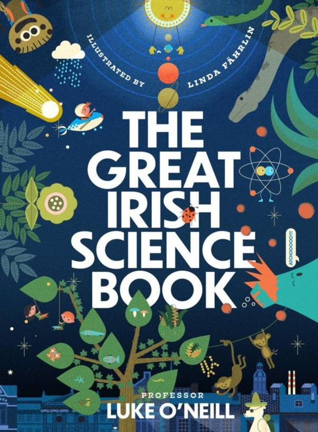 A colourful book entitled The Great Irish Science Book