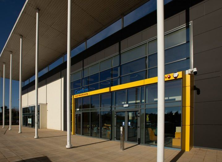Exterior of the new Confirm manufacturing research centre on a sunny day.