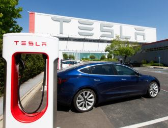 What happened on Tesla's first day on the S&P 500?