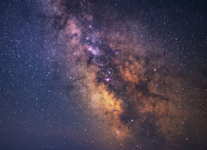 Image of the Milky Way in the night sky.