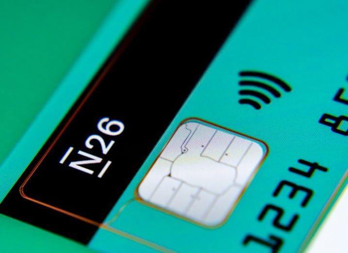 A green and black N26 bank card.
