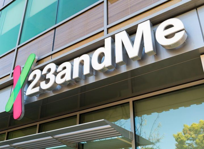 A building with the 23andMe logo on the front.