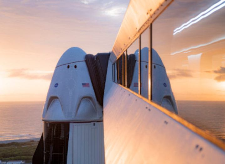 Photo of SpaceX's Dragon spacecraft, where the Inspiration4 crew will receive training for their mission.