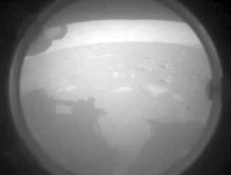 Perseverance beams back its first images after landing on Mars