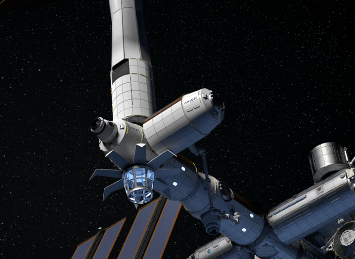 Axiom Space's private space station in orbit.