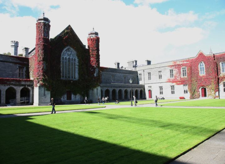 The quadrangle of the NUI Galway Campus.