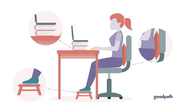 Illustration of a sitting WFH set-up.