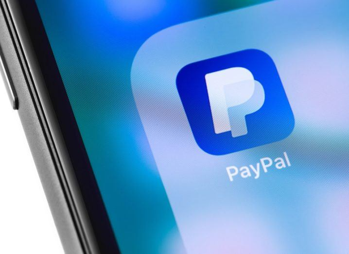 PayPal app logo on a smartphone screen.