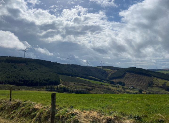 Photograph of Glencarbry windfarm, Co Tipperary, which has been acquired by Greencoat Renewables.