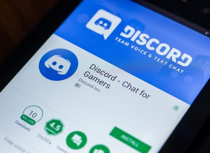 The Discord app is open on a phone screen.