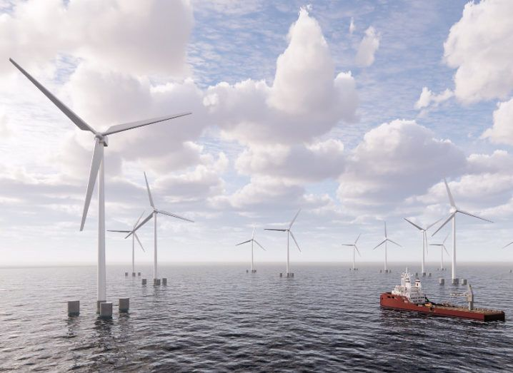 Artist's impression of the new floating offshore windfarm off the coast of Co Clare.