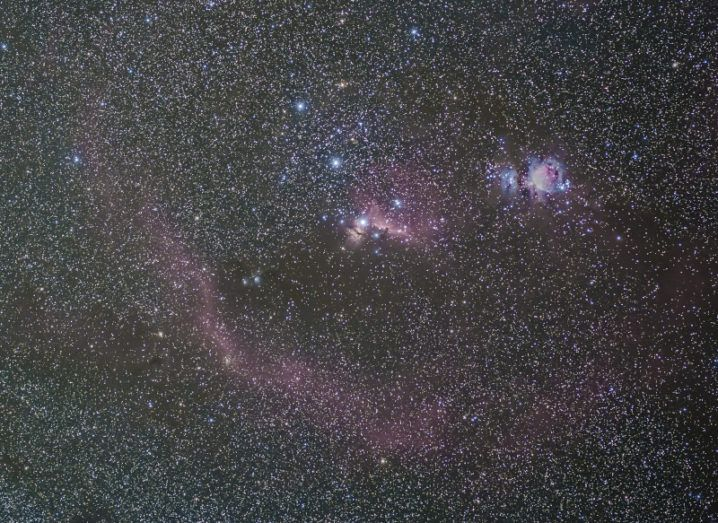 Stars and deep-sky objects shine against the black background of space.