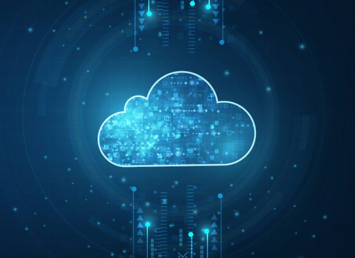 A digitised cloud graphic to symbolise cloud standards.