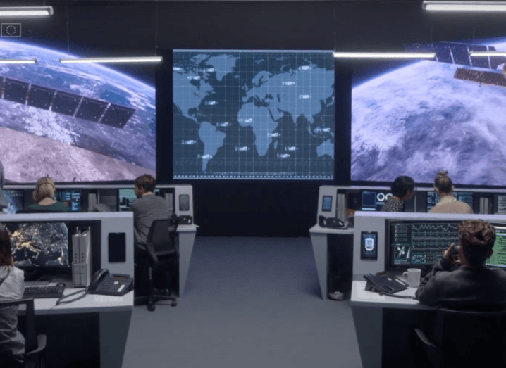 A look inside the EUSPA offices where staff are working on satellites in space.
