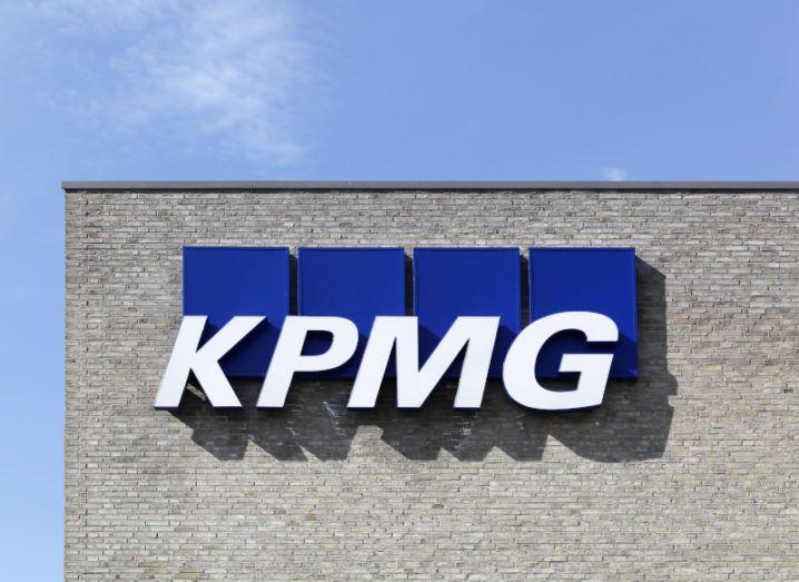 KPMG logo on building.