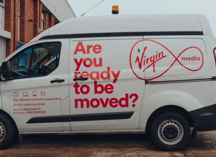 A Virgin Media van in the UK.