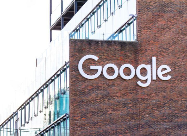 Google logo on an office building in Dublin's Silicon Docks.