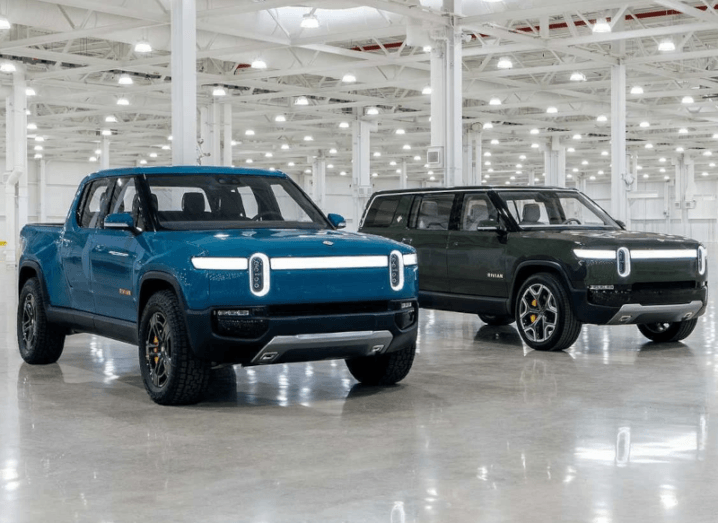 Rivian's R1T truck and R1S SUV.