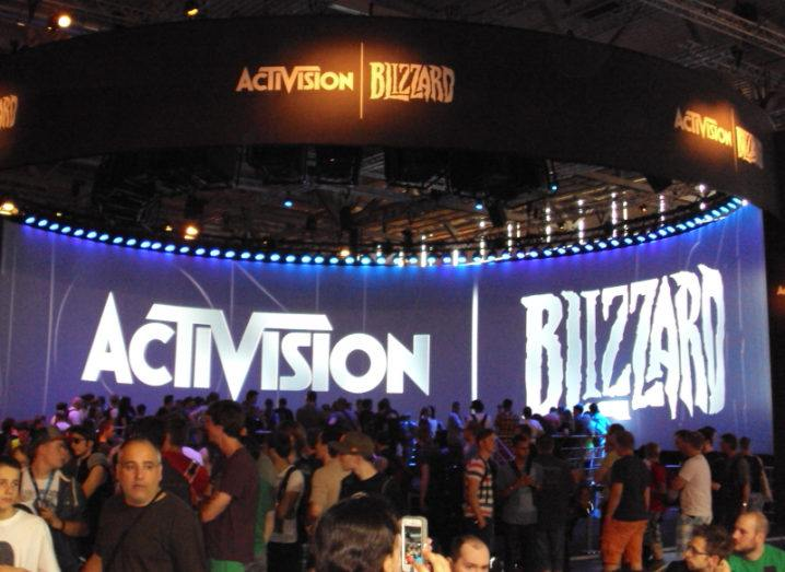 The Activision Blizzard booth at Gamescom 2013.