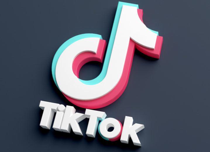 A stylised TikTok logo on a dark background.