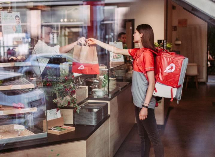 Delivery Hero food pick-up. Image: Max Threlfall