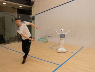 'World first for squash coaching' as researchers develop robot instructor