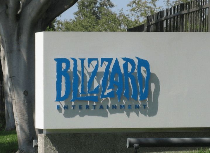 The sign outside the Blizzard Entertainment headquarters in Irvine, California.
