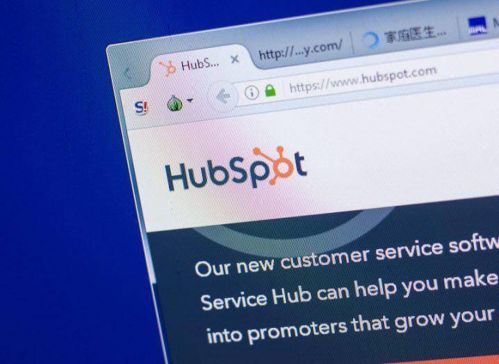 The HubSpot website on a computer screen.