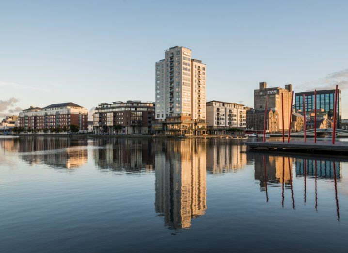 A view of Dublin's Docklands neighbourhood, the location of many of Ireland's fintech companies.