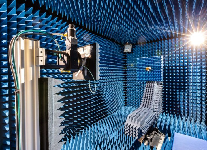 The interior of Letterkenny Institute of Technology's anechoic chamber.