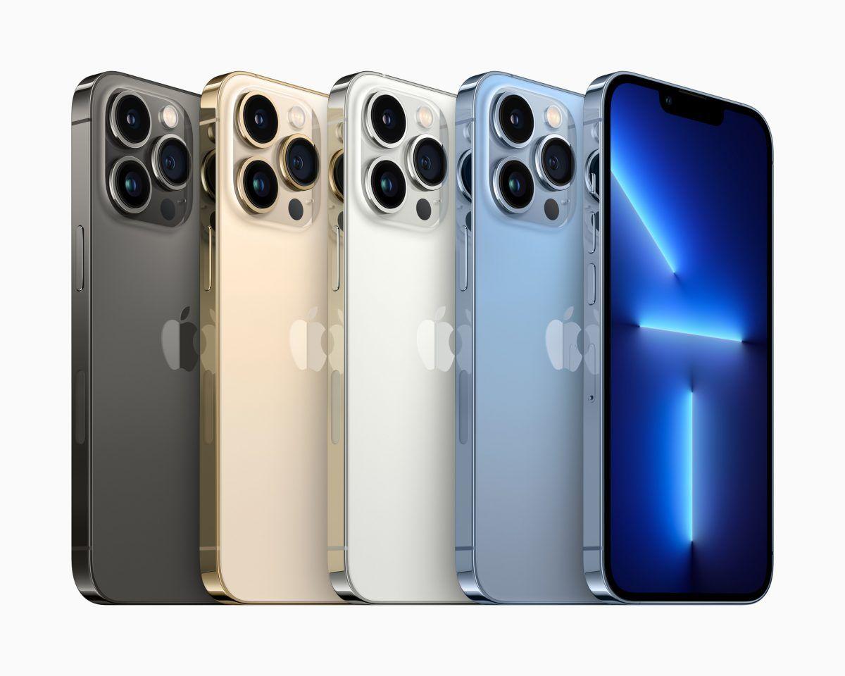 The iPhone 13 Pro range.