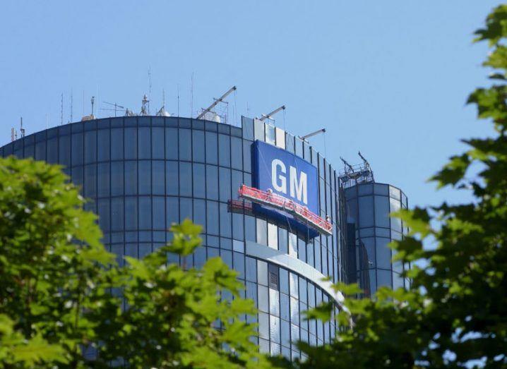 General Motors headquarters at the Renaissance Center in Detroit.