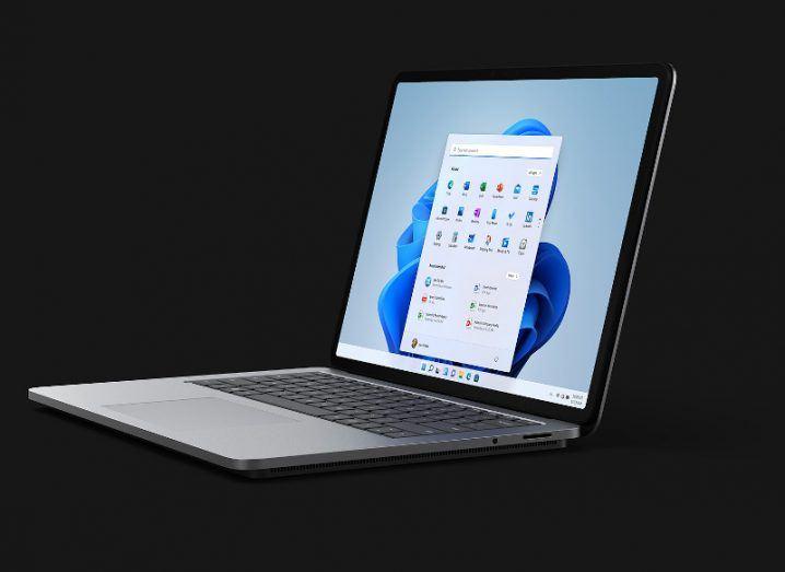 The new Microsoft Surface Laptop Studio.