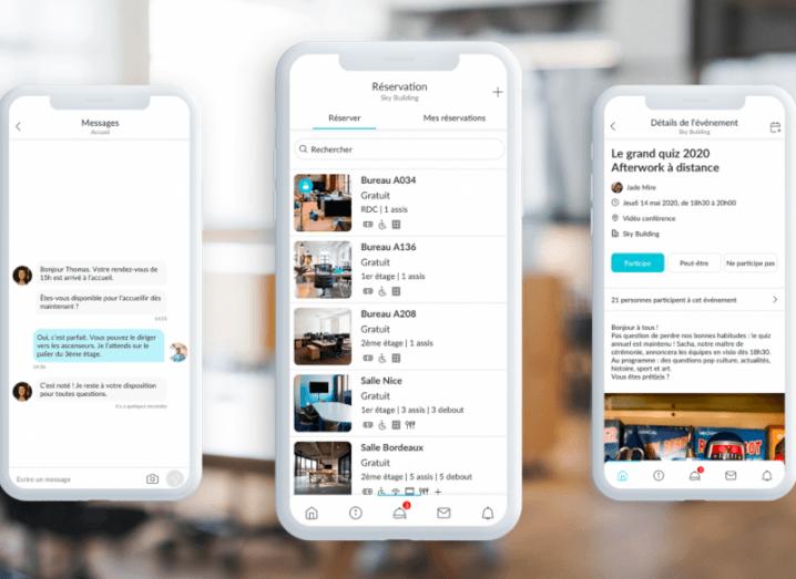 Witco app on three white smartphone screens.
