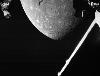 BepiColombo says hello to Mercury and snaps its first pictures of planet